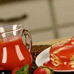 Erdbeer Sirup im Blendtec Mixer